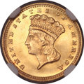 Gold Dollars, 1878 G$1 MS65 NGC....