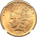 Indian Eagles, 1915 $10 MS64 NGC. CAC....