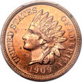 Proof Indian Cents, 1909 1C Indian Cent PR64 Red PCGS....