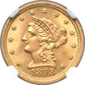 Liberty Quarter Eagles, 1893 $2 1/2 MS66 NGC....