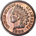 Proof Indian Cents, 1893 1C Indian Cent PR64 Brown PCGS. CAC....
