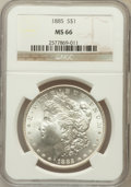 Morgan Dollars: , 1885 $1 MS66 NGC. NGC Census: (1704/193). PCGS Population(1301/91). Mintage: 17,787,768. Numismedia Wsl. Price forproblem...