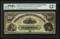 Canadian Currency: , St. John's, NF- Commercial Bank of Newfoundland $20 Jan. 3, 1888 Ch. # 185-18-10. ...