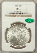 Morgan Dollars: , 1885 $1 MS66 NGC. CAC. NGC Census: (1711/192). PCGS Population(1302/88). Mintage: 17,787,768. Numismedia Wsl. Price for pr...