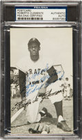 Autographs:Others, 1960's Roberto Clemente Signed Postcard....