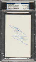 Autographs:Index Cards, 1960's Roberto Clemente Signed Index Card....