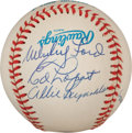 Baseball Collectibles:Balls, 1950s New York Yankees Pitching Staff Multi Signed Baseball. ...
