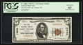 National Bank Notes:Arkansas, Lake Village, AR - $5 1929 Ty. 1 The First NB Ch. # 13632. ...