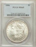 Morgan Dollars: , 1896 $1 MS65 PCGS. PCGS Population (3603/731). NGC Census:(4263/674). Mintage: 9,976,762. Numismedia Wsl. Price for proble...
