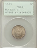 Liberty Nickels: , 1883 5C No Cents MS64 PCGS. PCGS Population (3141/1745). NGCCensus: (2217/2363). Mintage: 5,479,519. Numismedia Wsl. Price...