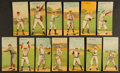Baseball Cards:Lots, 1911 T201 Mecca Double Folders Collection (13) With Brown, Speaker Plus Other HoFers. ...