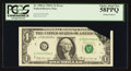 Error Notes:Foldovers, Fr. 1904-G $1 1969A Federal Reserve Note. PCGS Choice About New58PPQ.. ...
