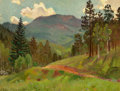 Texas:Early Texas Art - Regionalists, OLIN TRAVIS (American, 1888-1975). Mountain Trail, Colorado,circa 1934-40. Oil on board. 12 x 16 inches (30.5 x 40.6 cm...