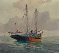 Texas, PAUL RICHARD SCHUMANN (American, 1876-1946). On the Water.Oil on panel. 12 x 14 inches (30.5 x 35.6 cm). Signed lower r...