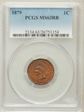 Indian Cents: , 1879 1C MS63 Red and Brown PCGS. PCGS Population (138/345). NGCCensus: (54/311). Mintage: 16,231,200. Numismedia Wsl. Pric...