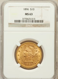 Liberty Eagles: , 1896 $10 MS63 NGC. NGC Census: (218/21). PCGS Population (133/9).Mintage: 76,200. Numismedia Wsl. Price for problem free N...