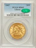 Liberty Eagles: , 1907 $10 MS63 PCGS. CAC. PCGS Population (3486/678). NGC Census:(5817/1163). Mintage: 1,203,973. Numismedia Wsl. Price for...