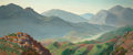 American:Modern, EDWARD BRIGHT BRUCE (American, 1879-1943). The Valley ofHorace. Oil on canvas. 26 x 60 inches (66.0 x 152.4 cm).Signed...