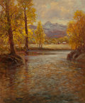 American:Western, ROBERT WILLIAM WOOD (American, 1889-1979). River Landscape,circa 1940. Oil on canvas. 30 x 25 inches (76.2 x 63.5 cm). ...