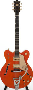 Musical Instruments:Electric Guitars, 1965 Gretsch Nashville Orange Semi-Hollow Body Electric Guitar,Serial # 80942....