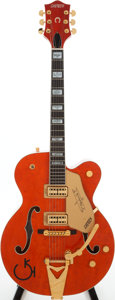 Musical Instruments:Electric Guitars, 1989 Gretsch 6120W Orange Semi-Hollow Body Electric, Guitar, Serial# 898120W-5....
