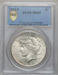 Peace Dollars, 1922-S $1 MS65 PCGS Secure....