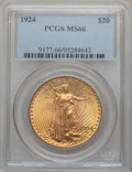 Saint-Gaudens Double Eagles, 1924 $20 MS66 PCGS....
