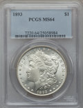 Morgan Dollars, 1893 $1 MS64 PCGS....