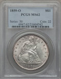 Seated Dollars, 1859-O $1 MS62 PCGS....