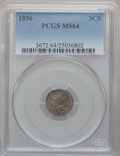 Three Cent Silver, 1856 3CS MS64 PCGS....