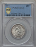 Seated Quarters, 1888 25C MS64 PCGS Secure....