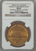 So-Called Dollars, 1893 World's Columbian Exposition, Official Medal, Large Letters MS64 NGC. HK-154, Eglit-23, R.2....