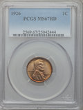 Lincoln Cents, 1926 1C MS67 Red PCGS....