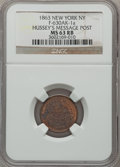 Civil War Merchants, 1863 Hussey's Message Post, New York, NY, MS63 Red and Brown NGC.Fuld-NY630AK-1a....