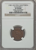 Civil War Patriotics, Undated One Country VF30 NGC. Fuld-216/293a....