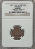 Civil War Patriotics, 1863 Union For Ever MS62 Brown NGC. Fuld-240/341a. Misattributed byNGC as Fuld-240/337a....