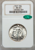Walking Liberty Half Dollars: , 1947 50C MS64 NGC. CAC. NGC Census: (2496/3482). PCGS Population(4348/4629). Mintage: 4,094,000. Numismedia Wsl. Price for...