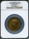 U.S. Presidents & Statesmen, 1953-Dated Dwight Eisenhower Inauguration Medal MS65 NGC. 70 mm,Bronze. Medallic Art Co. NY....