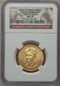 Modern Issues, 2009-W $10 Anna Harrison Half-Ounce Gold Ten Dollar MS70 NGC....
