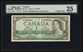 Canadian Currency: , BC-37c $1 1954 Modified Portrait with Serial Number 1000000. ...