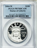 Modern Bullion Coins, 2004-W P$100 One-Ounce Platinum Eagle PR70 Deep Cameo PCGS....