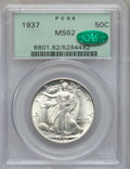 Walking Liberty Half Dollars, 1937 50C MS62 PCGS. CAC. PCGS Population (138/4128). NGC Census:(102/2611). Mintage: 9,527,728. Numismedia Wsl. Price for ...