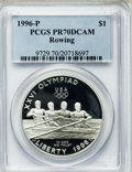 Modern Issues, 1996-P $1 Olympic/Rowing Silver Dollar PR70 Deep Cameo PCGS....