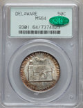 Commemorative Silver: , 1936 50C Delaware MS64 PCGS. CAC. PCGS Population (1438/2117). NGCCensus: (897/1640). Mintage: 20,993. Numismedia Wsl. Pri...