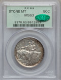 Commemorative Silver: , 1925 50C Stone Mountain MS63 PCGS. CAC. PCGS Population(2096/6862). NGC Census: (931/5863). Mintage: 1,314,709.Numismedia...