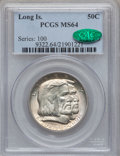 Commemorative Silver: , 1936 50C Long Island MS64 PCGS. CAC. PCGS Population (2262/1656).NGC Census: (1826/1548). Mintage: 81,826. Numismedia Wsl....