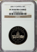 Modern Issues, 2001-P 50C Capitol Visitor's Center Half Dollar PR70 Ultra Cameo NGC....