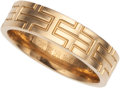 Luxury Accessories:Accessories, Hermes 18K Yellow Gold Kilim Ring. ...