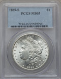 Morgan Dollars, 1889-S $1 MS65 PCGS....