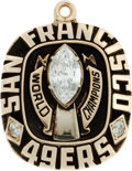 Football Collectibles:Others, 1981 San Francisco 49ers Super Bowl XVI Gold Pendant....